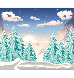 Winter Forest Landscape3 vector
