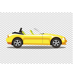 yellow modern cartoon colored cabriolet car vector image