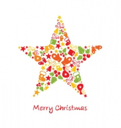 Christmas card star vector image vector image