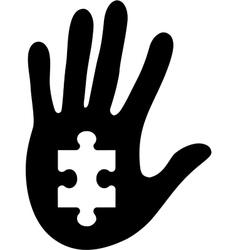 puzzle 18 vector image