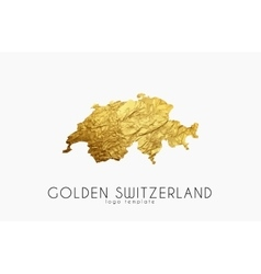 Switzerland map Golden Switzerland logo Creative vector image vector image