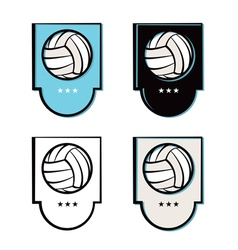 Volleyball Logo vector image vector image