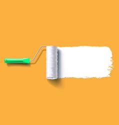 White roller brush vector