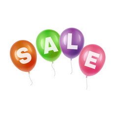 balloons with sale vector image