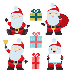 collection of christmas santa claus 1 vector image