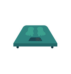 flat weight scales icon vector image
