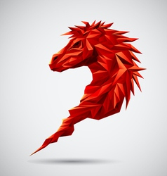 Red Geometric horse vector image vector image