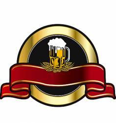 beer fest label vector image