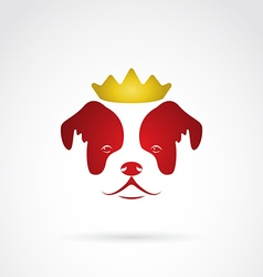 Dog crowned vector image