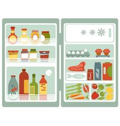 Open fridge vector image