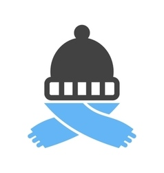 Warm Cap and Scarf vector image vector image