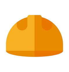 Builder helmet flat isolated on white safety hat vector