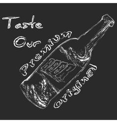 Chalk beer bottle vector
