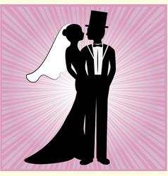 wedding silhouette 7 vector image