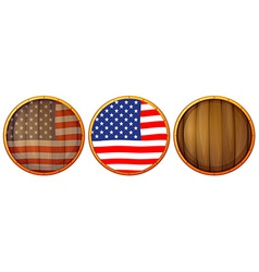 Wooden US icons vector image