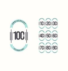 100 th anniversary celebrations elegant template vector