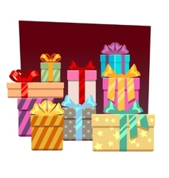 Abstract festive background with gift boxes vector image