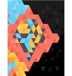 Abstract triangles pattern on black background vector image
