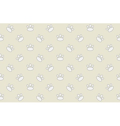 Animal footprint seamless pattern vector