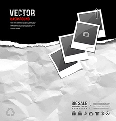 aper ripped on paper recycle crumpled for business vector image