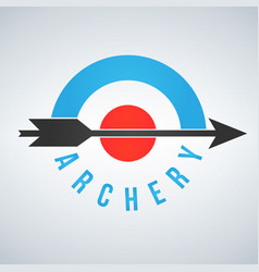 Archery target and arrow logo isolated on white vector