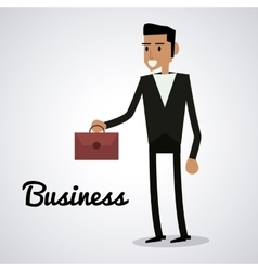 Avatar of Businessman with suitcase vector