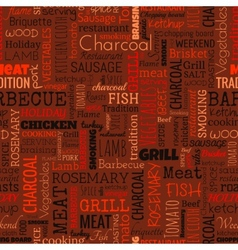 BBQ word seamless pattern vector image