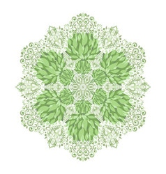 Beautiful ethnic green ornament vector image