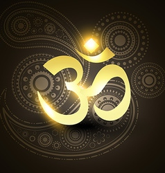 beautiful golden om symbol vector image