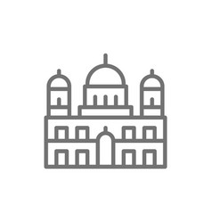 berlin cathedral landmark german line icon vector image