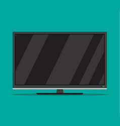 black television screen vector image