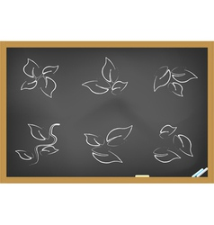Blackboard leaf icons vector