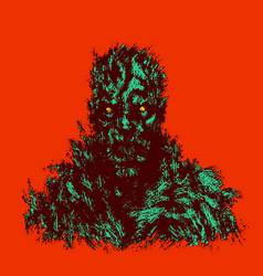 bloody zombie concept vector image