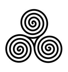 Breton and celtic original spiral triskel vector