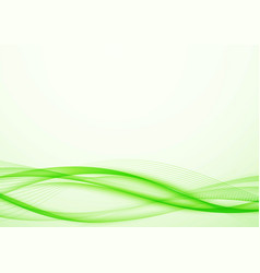 bright modernistic green eco speed swoosh wave vector image