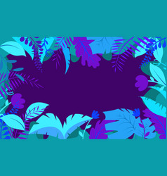 bright tropical background with jungle plants vector image
