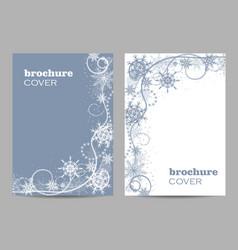 Brochure template layout design beautiful winter vector