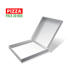 cardboard white 3d box for pizza vector image
