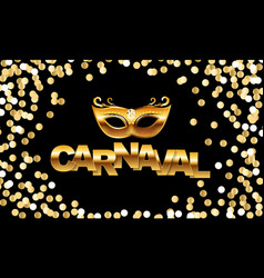 Carnival banner with bunting flags and flying vector