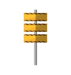 cartoon barrier under construction road vector image