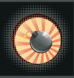 Cartoon black bomb vector