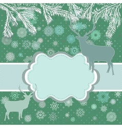 Christmas deer template card vector