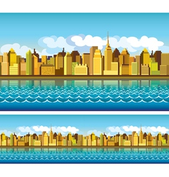 City colorful vector