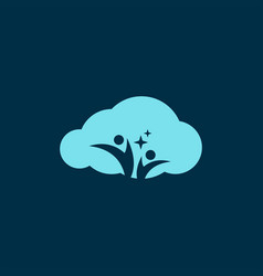 cloud logo design vector image