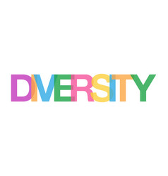 Colorful word diversity concept white background vector