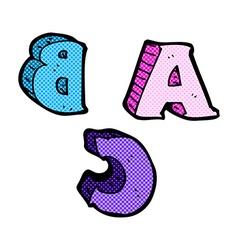 Comic cartoon abc letters vector