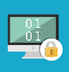 Computer and security system design vector