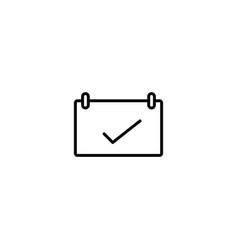 date calendar icon vector image