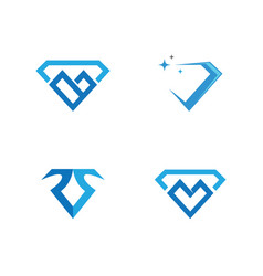 Diamond logo template vector