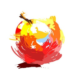 Drawing apple vector image vector image